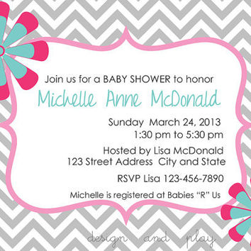 Modern Housewarming Invitation DIY Printable Digital File / Twins Baby Shower / Graduation Party Invite