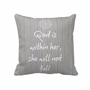 She Will Not Fail Pillow Case.