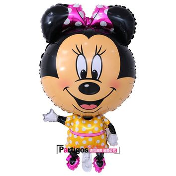 1pcs Large Size Mickey Minnie Mouse Foil Balloon Inflatable Ballon  Birthday Wedding decoration  Supplies children's Toys Globo