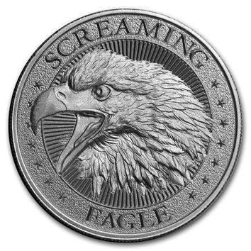 2 oz Silver High Relief Round - Screaming American Eagle