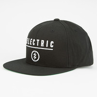 Electric Identity Corp Mens Snapback Hat Black One Size For Men 27248510001