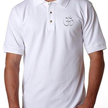 Yoga Clothing for You Mens HINDU Polo Shirt, (pocket print)