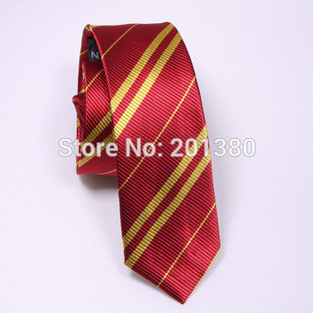1PC Striped Harry Potter Tie for men school ties student Slytherin Gryffindor
