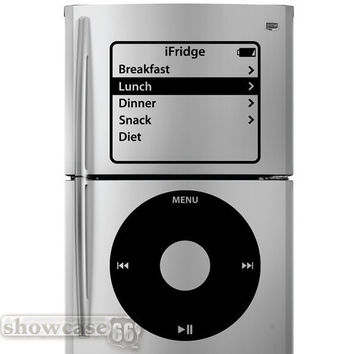 iFridge - iPod Inspired Fridge Art- Vinyl Wall Art - FREE Shipping - Fun  Wall Decal