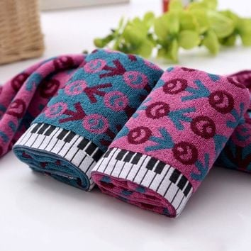 1pc cotton thickening sports soft absorbent beach Piano keyboard lovers creative towel