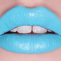 No She Didn't opaque blue lipstick