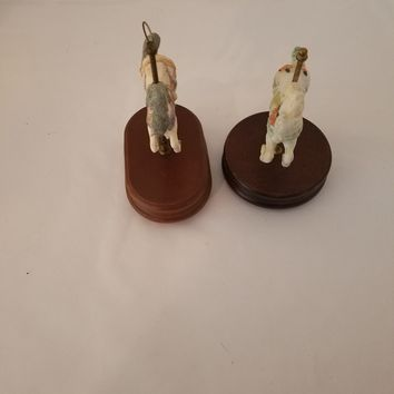 Two Musical Horse Carousels