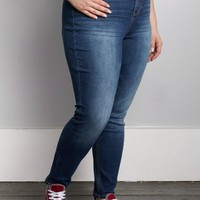 Plus Sandblasted High Waist Skinny Jean