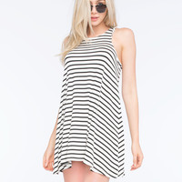SOCIALITE Hi Neck Stripe Dress | Short Dresses