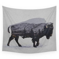Society6 The American Bison Wall Tapestry