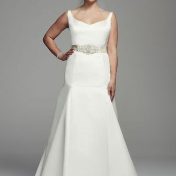 Trumpet Gown with Button Back Detail - Davids Bridal