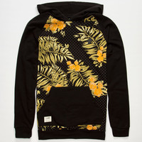 Lira Fashion Floral Mens Hoodie Black  In Sizes