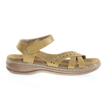 Cassidy38 Beige By Forever Link Comfort Foam Padded Foot Bed, Active Open Toe Huarache Flat Sandal