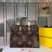 Kuyou Lv Louis Vuitton Gb2974 Onthego Coffee Print Handbags M44571 41.0x34.0x19.0 Cm