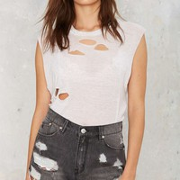 RES Denim Tiny Dancer Distressed Cutoffs - Dio
