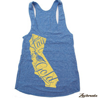 Womens CALIFORNIA State american apparel Tri-Blend Racerback Tank Top S M L (9 Color Options)
