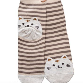 Striped Cat Lover Socks