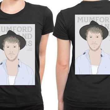 Mumford And Sons Ted Dwane Vektorize 2 Sided Womens T Shirt