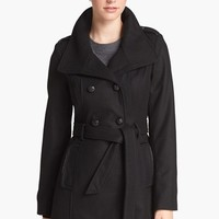 GUESS Belted Wool Blend Trench Coat (Online Only) | Nordstrom