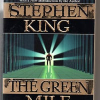 the green mile  by stephen king paperback first edition excellent