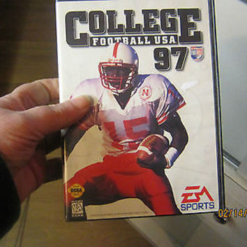 "SEGA GENESIS""COLLEGE FOOTBALL USA 97"" GAME"