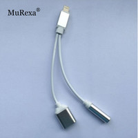 MuRexa New 3.5mm Earphone Headphone Jack Adapter Connector Lightning Cable with Charging Charger For iPhone 7 Plus