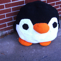 Really Big Crochet Plush Penguin Stuffed Animal Plush Toy Chair