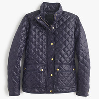 J.Crew Womens Tall Shiny Downtown Field Puffer Jacket