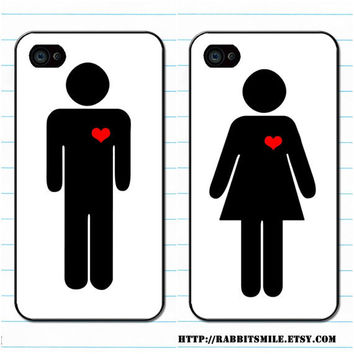 iPhone 4 Case iPhone 4s Case iPhone 4 Cover Hard by rabbitsmile