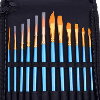 Nylon Paint Brush Set (12 pcs)