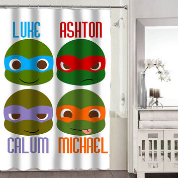 5 second of summer NINJA shower curtains adorabel bathroom heppy shower curtains.