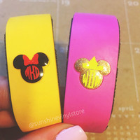 Mouse Head Bow Crown Magic Band Monogram