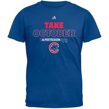 Chicago Cubs - NL Central 2015 Champs Take October Soft Adult T-Shirt