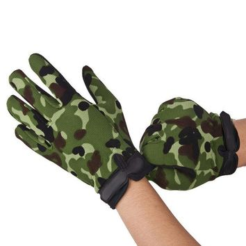 DCCK7N3 EA14 New Outdoor Motorcycle Bike Tactical Airsoft Riding Hunting Full Finger Gloves Cycling Gloves