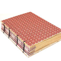 Pink Coptic Bound Journal by Thenibandquill on Etsy