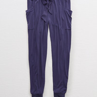 Aerie Real Soft® Cargo Jogger, Navy