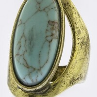 FAUX TURQUOISE ACCENT RING