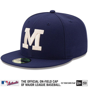 Milwaukee Brewers Authentic Collection 1937 Turn Back The Clock On-Field 59FIFTY Game Cap - MLB.com Shop