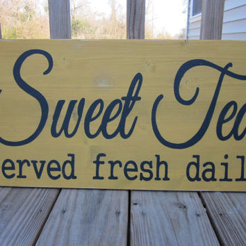 Sweet Tea Sign - Kitchen Wood Sign - Hand Painted - Kitchen Decor, Home Decor, Wall Art, Kitchen Art