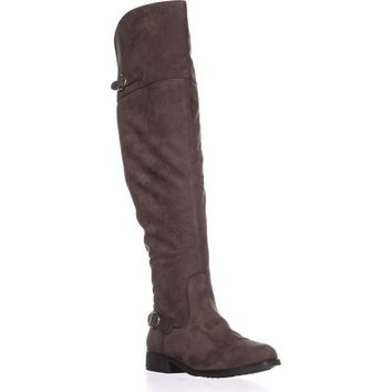 AR35 Adarra Knee-High Riding Boots, Truffle, 7.5 US