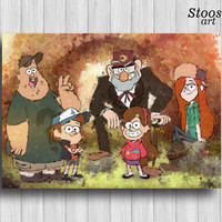 Gravity Falls print disney poster nursery wall art
