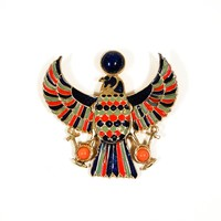 1970's Falcon Brooch / Necklace by Accessocraft NYC