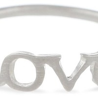 "Dogeared Sterling Silver Words To Live By ""Love"" Ring"