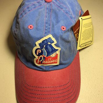 AMERICAN NEEDLE PHILADELPHIA PHILLIES DISTRESSED LOOK LIBERTY BELL RELAX FIT HAT