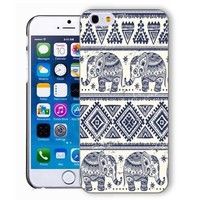 ChiChiC Iphone case, i phone 6 case, iphone6 case,iphone 6 case,iphone 6 4.7 cases, plastic cases back cover skin protector,blue ethnic elephant
