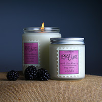 Wild Blackberry Post Card Candle. Blackberries and sweet cream. Melodie Perfumes