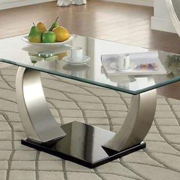 Arissa Curved Pedestal Base Coffee Table