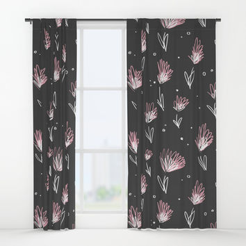 Doodle Garden Window Curtains by MidnightCoffee