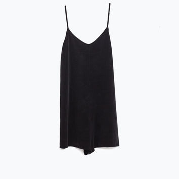 SHORT CUPRO JUMPSUIT - Collection-GYMWEAR-WOMAN | ZARA United States