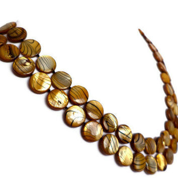 Caramel Brown Extra Long Shell Pearl Necklace